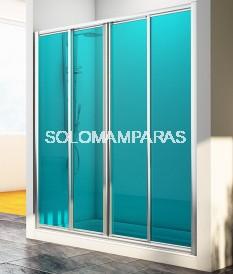 Frontal de ducha Mampara Sella, 2 fijas + 2 correderas (acrílico)