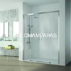 Mampara de ducha Kassandra, serie 400 (CU100) transparente, 2 fijas + 2 correderas (ANTICAL)