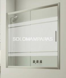 Mampara frontal de bañera Izmir -Hidroglass- (1 fija + 1 corredera) 6 mm
