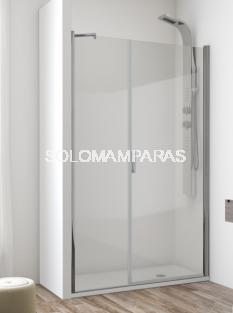 Mampara de ducha Ameca -Hidroglass- (1 fijo + 1 puerta abatible) 6 mm