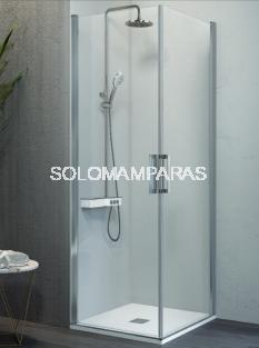 Mampara de ducha angular -Kassandra- Nardi (NA506) (2 puertas abatibles) Transparente (Antical Easy Clean)