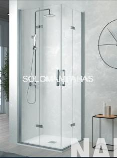 Mampara de ducha Kassandra Nardi angular plegable (NA306) Transparente (Antical Easy Clean)