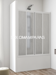 Frontal baño mampara Ankara (acrílico), 2 fijas + 2 correderas