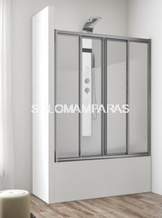 Mampara frontal de bañera Ankara -Hidroglass- (2 fijas + 2 correderas) vidrio 4 mm