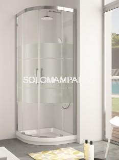 Mampara -Kassandra- semicircular Serie 400 (CU130+CU131) serigrafia Clio (antical Easy Clean)