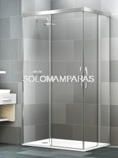 Mampara angular de ducha Elba Extra -Deyban- (2 fijas + 2 correderas) antical