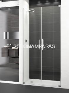 Mampara de ducha Polary -Deyban- (2 puertas abatibles) + 1 lateral fijo 8 mm (antical)