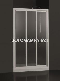 Mampara de ducha Demi - PROFILTEK - 3 hojas correderas en vidrio