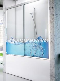 Mampara frontal de bañera Bran -Hidroglass- (2 correderas) 6 mm