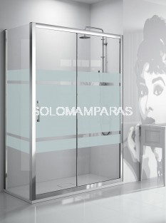 Frontal ducha - Kassandra- serie 300 Bali (TR102+TR103), (1 fija + 1 corredera) + lateral fijo (Antical Easy Clean)