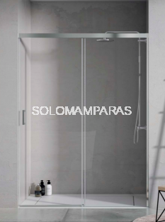 Frontal de ducha Mampara Pinet de Torvisco, 1 fija + 1 corredera