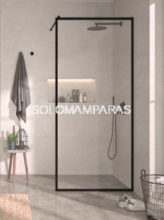 Fijo de ducha Fresh - FR103 -Kassandra- 8 mm (antical) con decorado industrial negro