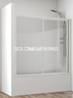 Mampara frontal de bañera Ova -Hidroglass- (1 fija + 1 corredera) vidrio templado 4 mm