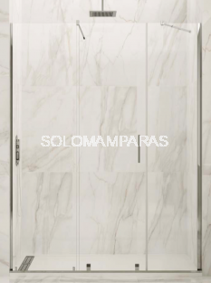 Mampara de ducha Vitro -GME- (1 fijo + 1 corredera + 1 fijo) 6 mm (antical)