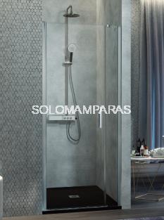 Mampara de ducha -Kassandra- Nardi (NA502) (1 abatible + 1 fijo frontal) Transparente (Antical Easy Clean)
