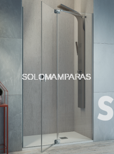 Mampara de ducha Kassandra Sula (SL603+SL602) Transparente (Antical Easy Clean) (1 fija + 1 abatible)