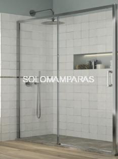 Mampara de ducha Yoko - Kassandra- (1 fija + 1 corredera) 6 mm (antical)