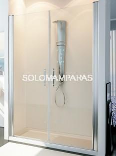 Mampara de ducha Ebano -Hidroglass- 2 hojas abatibles, 6 mm