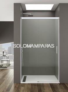 Mampara de ducha Basic -GME- (1fija + 1corredera) antical y perfilería blanca