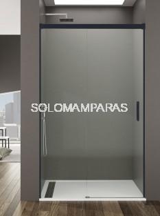 Mampara de ducha Basic -GME- (1fija + 1corredera) antical y perfilería negra