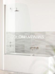 Hoja de bañera curva Milos -Hidroglass- (1 hoja abatible) 6 mm