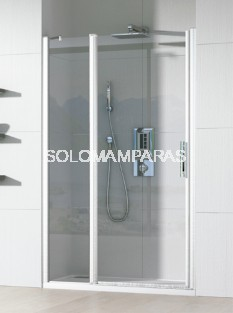 Mampara de ducha Cauca -Hidroglass- (1 fijo + 1 puerta abatible) 6 mm