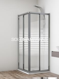 Angular de ducha Madeira -Hidroglass- (2 fijas + 2 correderas) vidrio templado
