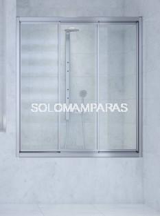 Mampara bañera Java (3 correderas) vidrio templado y acrílico