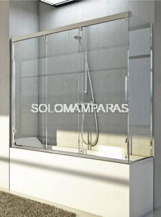 Mampara angular de bañera Cimarrón (3 correderas + 1 lateral fijo) 6 mm