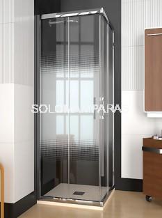 Mampara de ducha ST Cancún - Doccia - angular 2 fijos + 2 correderas
