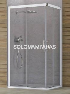 Angular de ducha Brenta (2 fijas + 2 correderas) 6 mm