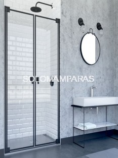 Mampara de ducha abatible Doha (Doccia Black Collection) 2 hojas abatibles