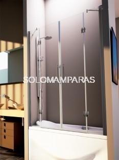 Mampara de bañera Azteca -Hidroglass- (2 fijos + 2 abatibles) 6 mm