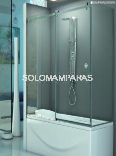 Mampara angular de bañera Rin -Hidroglass- (1 fija + 1 corredera + 1 lateral fijo) 8 mm