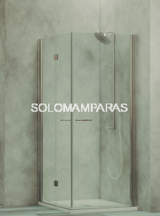 Mampara de ducha Linde -Hidroglass- (2 hojas plegables + 1 abatible) 6 mm