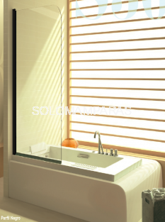 Hoja de bañera -Kassandra- Serie 300 (TR570) con perfileria negro mate (Antical Easy Clean)