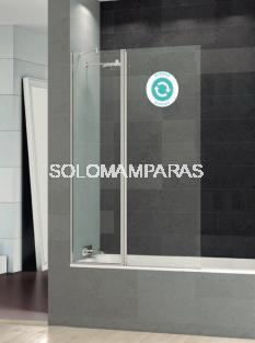 Mampara de bañera abatible Perú (1 fija + 1 abatible) -Deyban- (antical) de 105cm