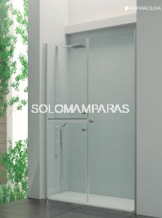 Mampara frontal de ducha Bogotá -Hidroglass- (2 hojas seccionadas abatibles + abatible)