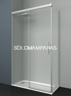 Mampara de ducha Albaicín -Deyban- (1 fija + 1 corredera+ 1 lateral fijo) 8 mm (antical)