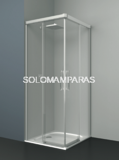 Mampara de ducha angular Albaicín -Deyban- (2 fijas + 2 correderas) 8 mm (antical)