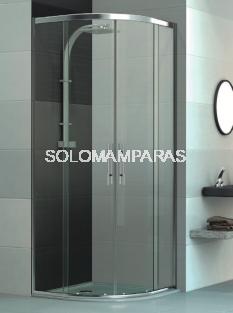 Mampara de ducha curva Elba + Cerco -Deyban- 2 fijas + 2 correderas (antical)