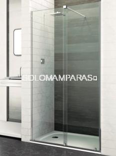 Mampara de ducha London -Deyban- 1 fijo + 1 corredera (acero) con antical