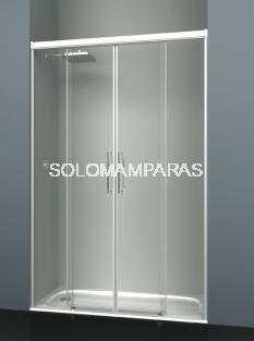Mampara de ducha frontal Albaicín -Deyban- (2 fijas + 2 correderas) 8 mm (antical)
