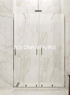 Mampara de ducha Vitro Spazio -GME- (2 fijas + 2 correderas) 6 mm (antical)