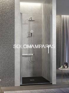 Mampara de ducha -Kassandra- Nardi (NA500) 1 puerta abatible transparente (Antical Easy Clean)