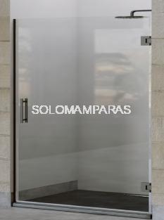 Mampara de ducha abatible Diala 6 y 8 mm con perfileria negra