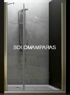 Mampara de ducha Ameca (1 fijo + 1 puerta abatible) 6 mm