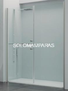 Mampara frontal de ducha Bogotá (2 hojas seccionadas abatibles + abatible)