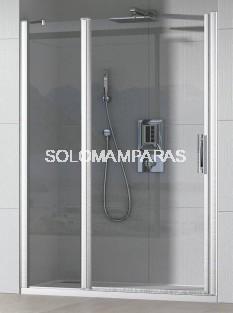 Mampara de ducha Cauca (1 fijo + 1 puerta abatible) 6 mm