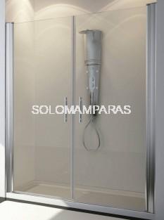 Mampara de ducha Ebano 2 hojas abatibles, 6 mm